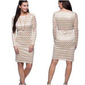 3/$20 Jessica Howard Dress Champagne Metallic